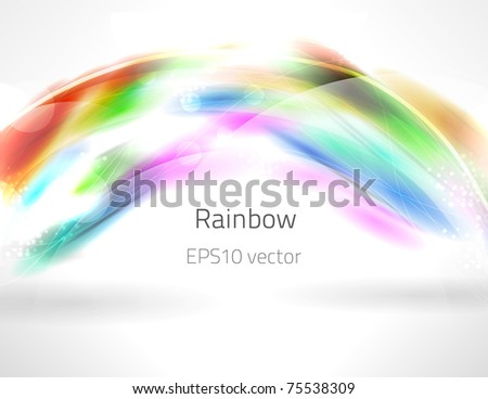 EPS10 vector rainbow
