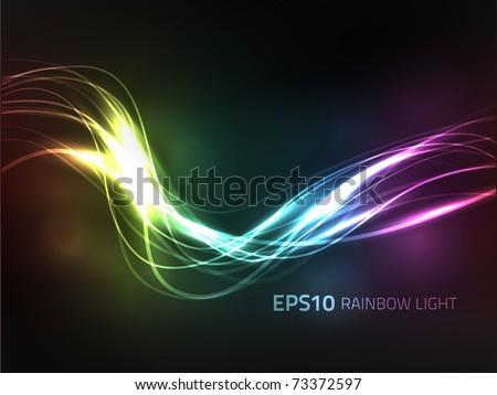 EPS10 vector rainbow background