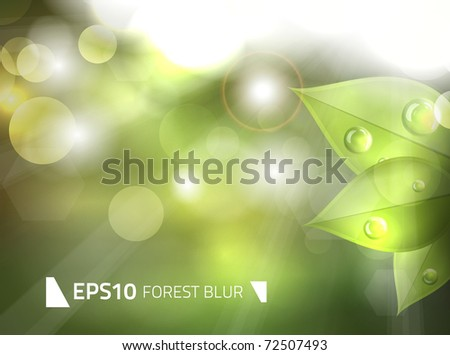 EPS10 vector relaxing green forest blur
