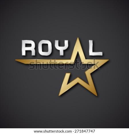 eps10 vector royal golden star