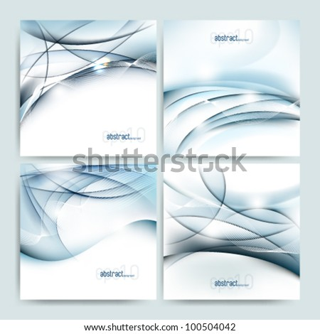 eps10 vector set of four futuristic glossy background template