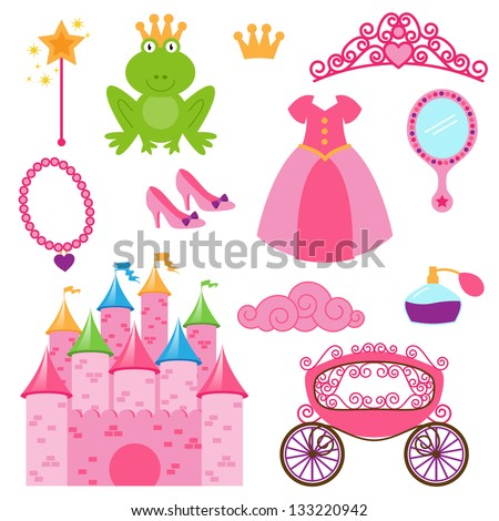 eps10 vector set of princess