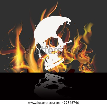 eps 10 vector skull isolated on