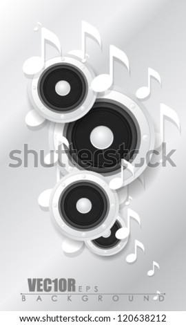 eps10 vector speaker and music note design