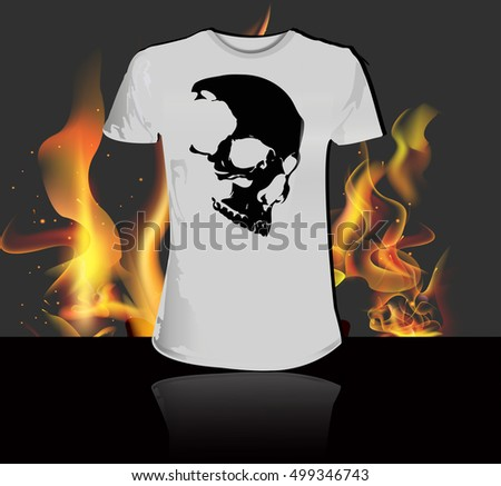 eps 10 vector t shirt with