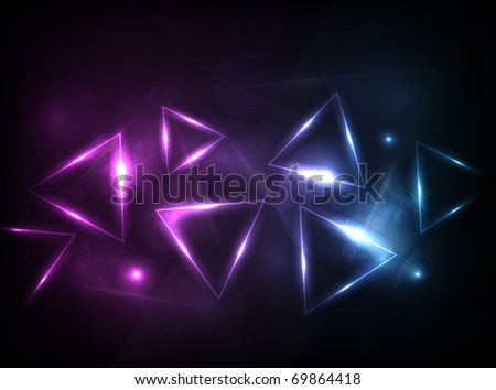 EPS10 vector triangle background - stock vector
