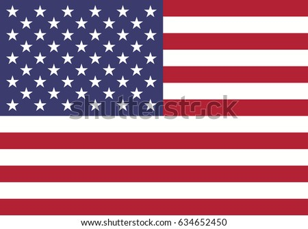 eps 10 vector United States of America state flag. American national background. Original colors symbol. Horizontal red and white stripes icon with stars emblem. Graphic clip art design sign mockup