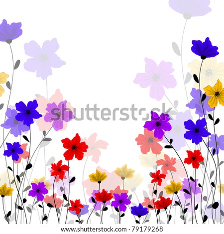 eps10 vector vintage multicolor floral design