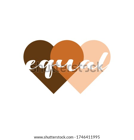 equal heart vector illustration