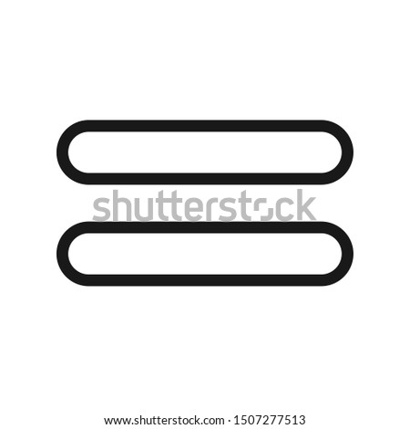 Equal Icon, Equal Icon Vector Illustration In White Background - Vector