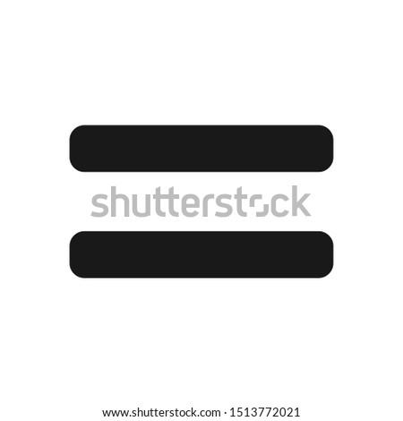Equal Icon, Equal Icon Vector Illustration – Vector