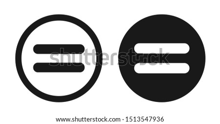 Equal Icon Set, Flat Illustration Of Equal, Vector Icon, Equal Sign Symbol – Vector