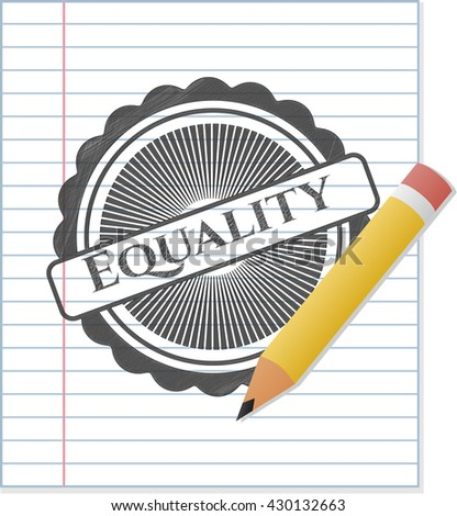 Equality emblem draw with pencil effect