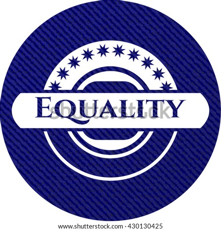 Equality emblem with jean high quality background