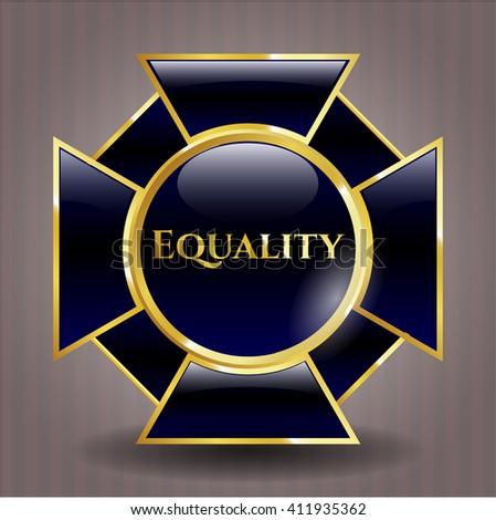 Equality golden emblem