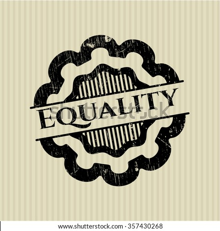 Equality rubber stamp with grunge texture