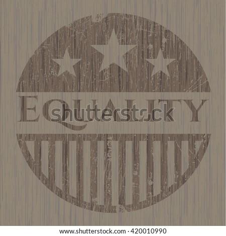 Equality wooden emblem
