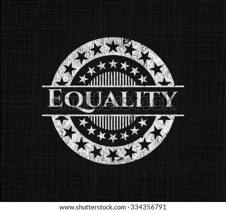 Equality written on a blackboard