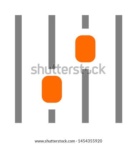 equalizer icon. flat illustration of equalizer. vector icon. equalizer sign symbol