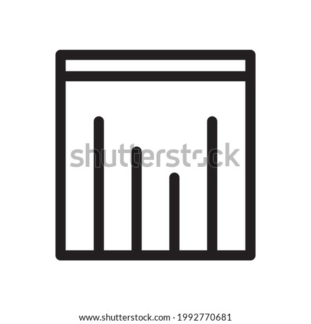 Equalizer icon or logo vector illustration of isolated sign symbol, vector illustration with high quality black outline.