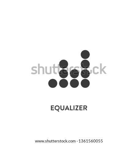 equalizer icon vector. equalizer sign on white background. equalizer icon for web and app