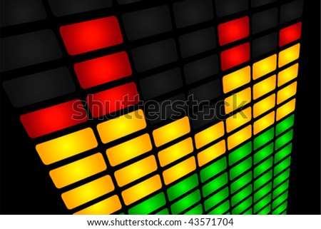 Equalizer lights close up Vector. Also available in raster. - stock vector