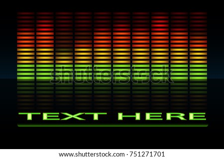 Equalizer scale with reflection.musical bar.sound indicator graphic vector