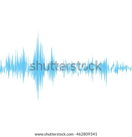 Equalizer sound wave icon. Isolated and flat illustration. Vector graphic