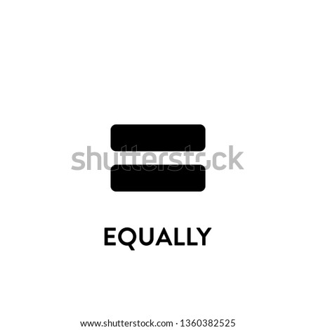 equally icon vector. equally sign on white background. equally icon for web and app