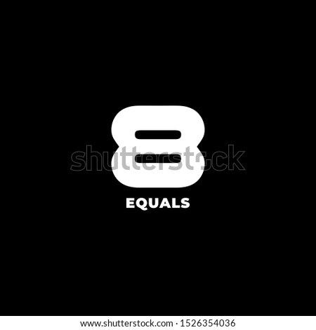 Equals Logo Concept, Number 8 Design Template, Simple, Clean, Trendy, Bold