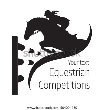 Equestrian competitions - vector illustration of horse - logo