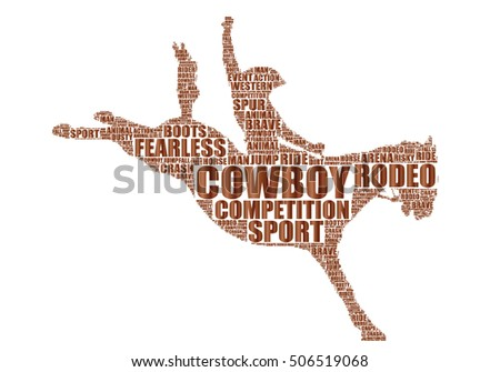 equestrian rodeo silhouette
