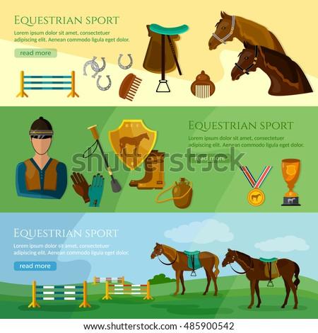 equestrian sport banner