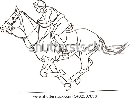Equestrian sport, rider and horse, eventing competition
