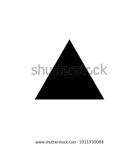 equilateral triangle icon. Elements of Geometric figure icon for concept and web apps. Illustration  icon for website design and development, app development. Premium icon on white background