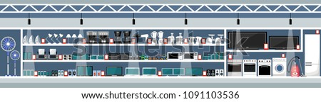 stock-vector-equipment-and-electronics-shop-vector-illustration