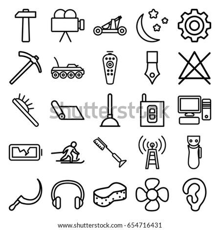 equipment icons set set of 25
