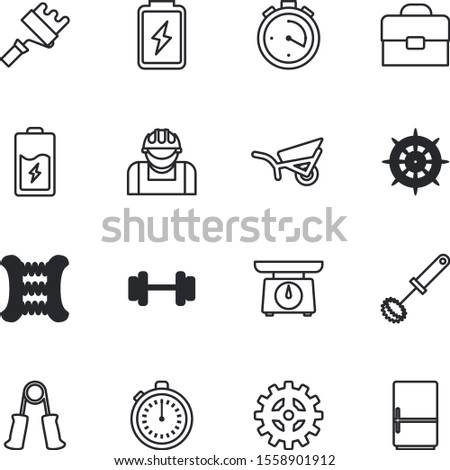 equipment vector icon set such as: blender, growth, agriculture, wooden, weights, meal, workman, innovation, dial, engine, kilogram, indoors, mechanical, utensil, career, accident, concept, cream