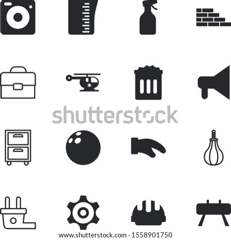 equipment vector icon set such as: set, focus, retro, strike, ecology, cement, square, smart, promotion, can, computer, luggage, loudspeaker, utensil, pet, electronic, technical, garden, media