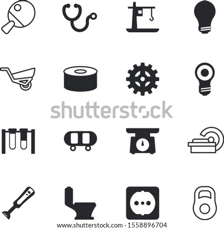 equipment vector icon set such as: toilet, weighing, mechanism, circle, violet, weigh, image, progress, four, garden, electrical, scan, people, privacy, chemical, hygiene, kilogram, magnetic, strong