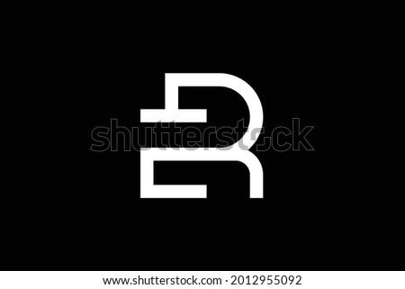 ER letter logo design on luxury background. RE monogram initials letter logo concept. ER icon design. RE elegant and Professional white color letter icon on black background. Stock fotó ©