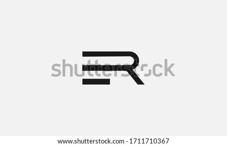 ER RE letter logo. Unique attractive creative modern initial ER RE E R initial based letter icon logo Stock fotó ©