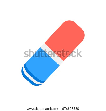 eraser flat icon. Vector sign on white background Foto stock ©