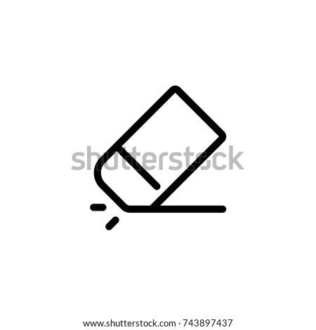 Eraser icon, Eraser icon vector, in trendy flat style isolated on white background. Eraser  icon image, Eraser  icon illustration