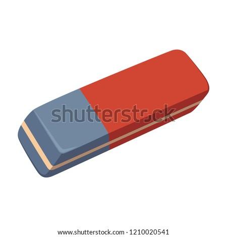 Eraser isolated on white background Foto stock ©