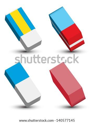 Eraser Set Foto stock ©