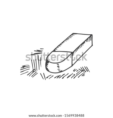 eraser stationery office object object isolated