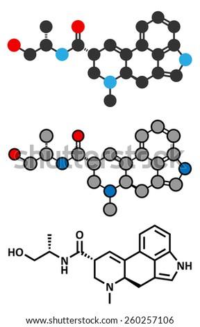 ergometrine drug molecule used