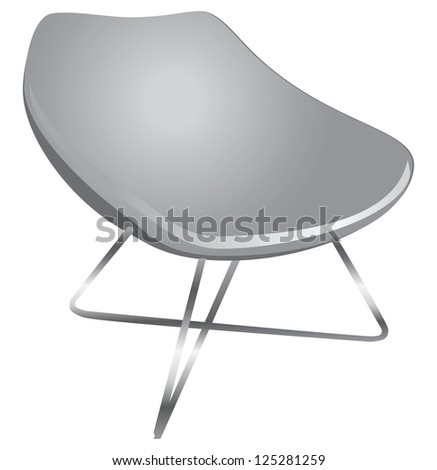 Ergonomic chair for the modern home and office. Vector illustration.