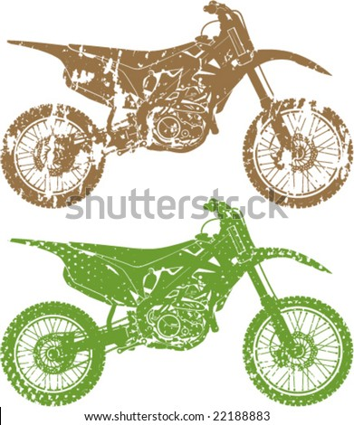 eroded motorcross cycles grunge